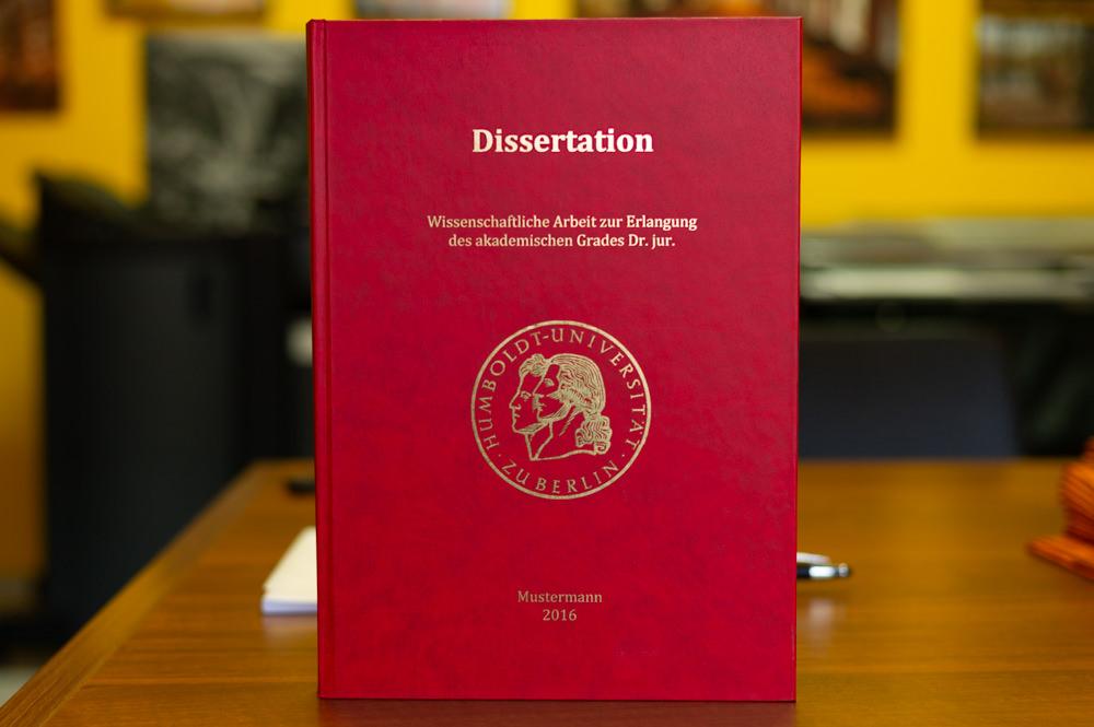 Dissertation doktorarbeit gleiche