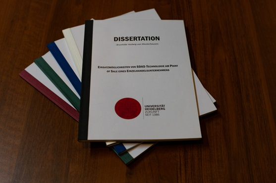 Dissertation binden als Softcoverbindung